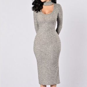 Fashion Nova Grey Sweaterdress